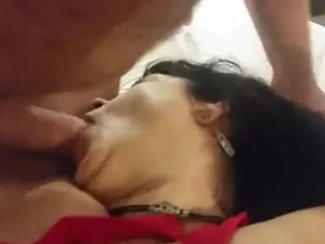 Married milf gets face fucked
