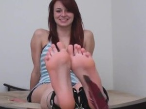 Soles tickle wrinkled