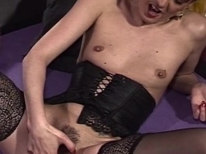 Hairy mature pink slit fingering by loyalsock