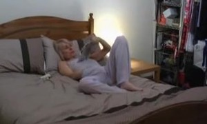 Fav mature caught wanking in bed