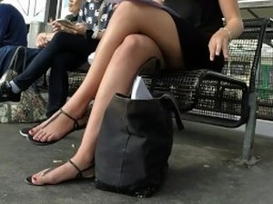 What Candid heel sexy voyeur there