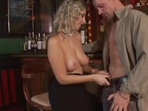 Anal sex in a bar